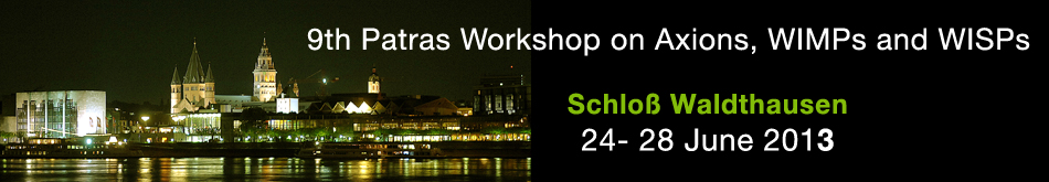 9th Patras Workshop on Axions, WIMPs and WISPs